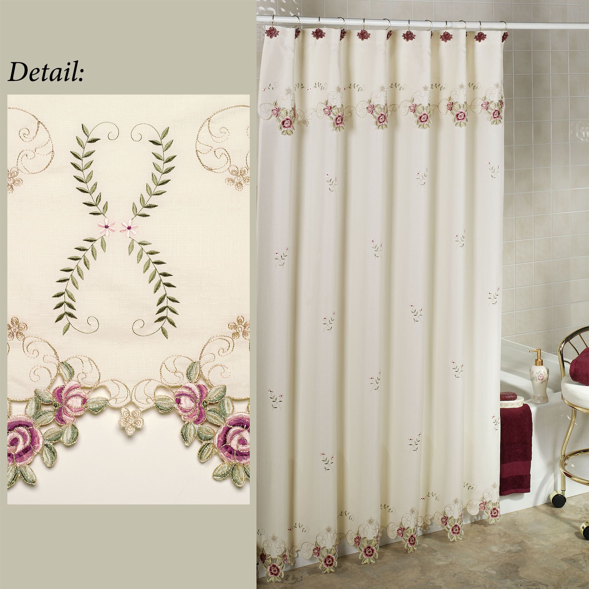 Shower Curtains Sale Bella Rose Shower Curtain