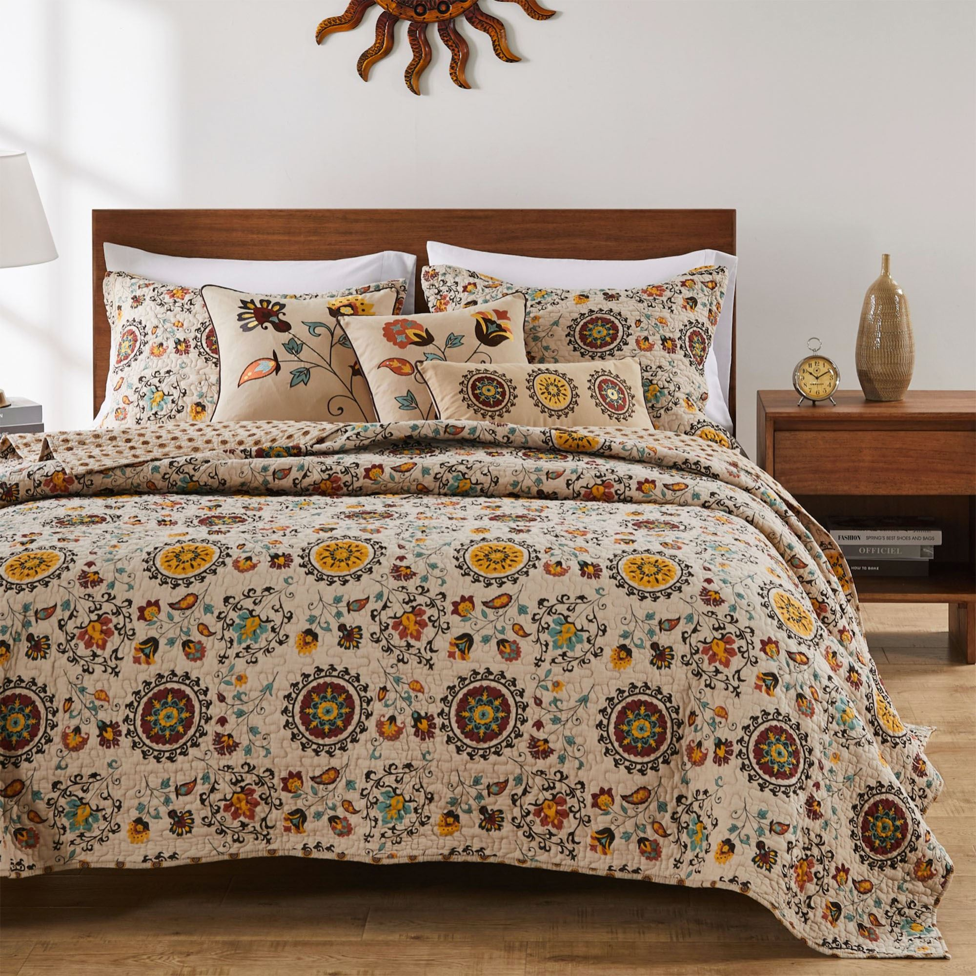 Quilt Sets Andorra Medallion Cotton Quilt Set Bedding