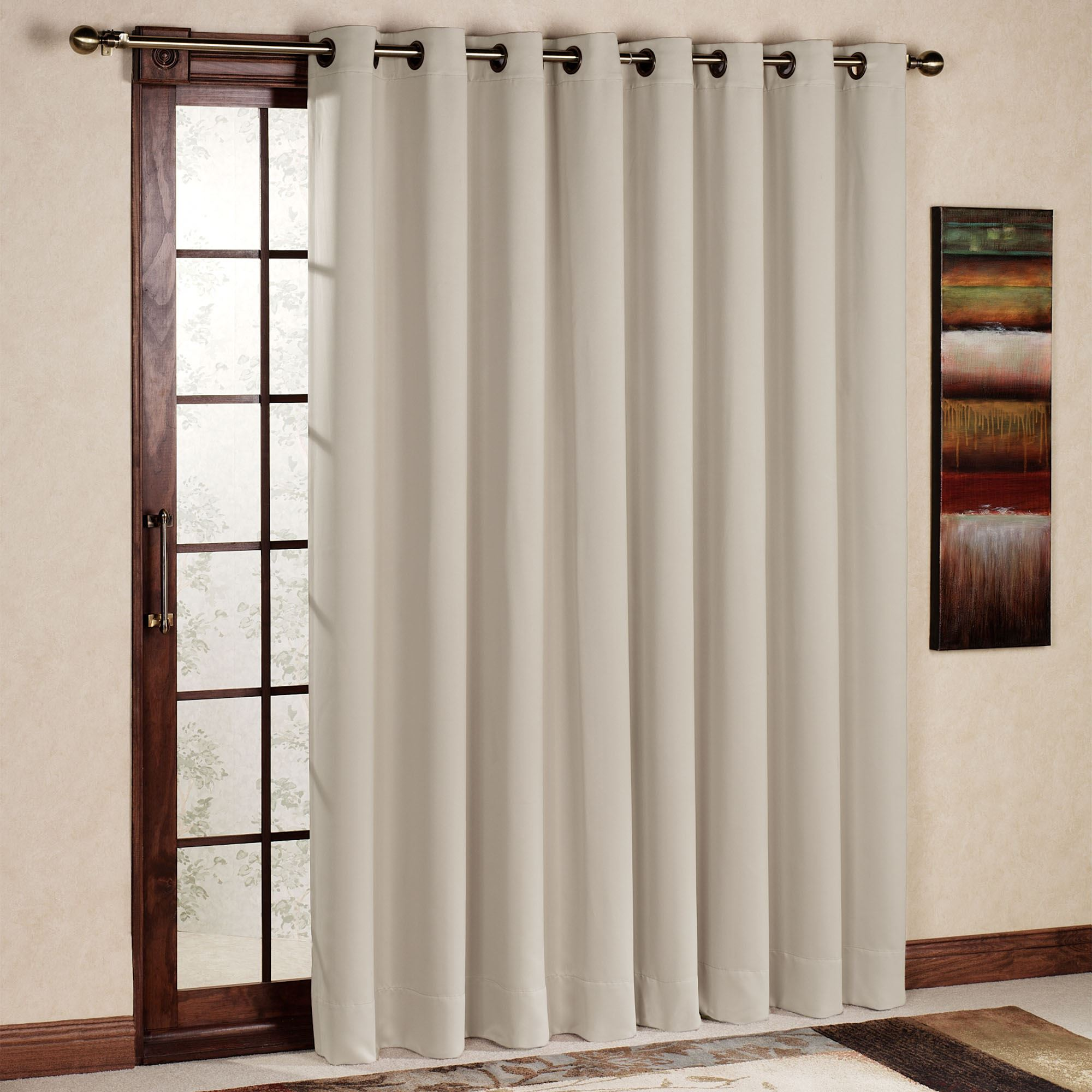 Thermal Patio Door Curtains With Grommets Ultimate Blackout Grommet Patio Panel