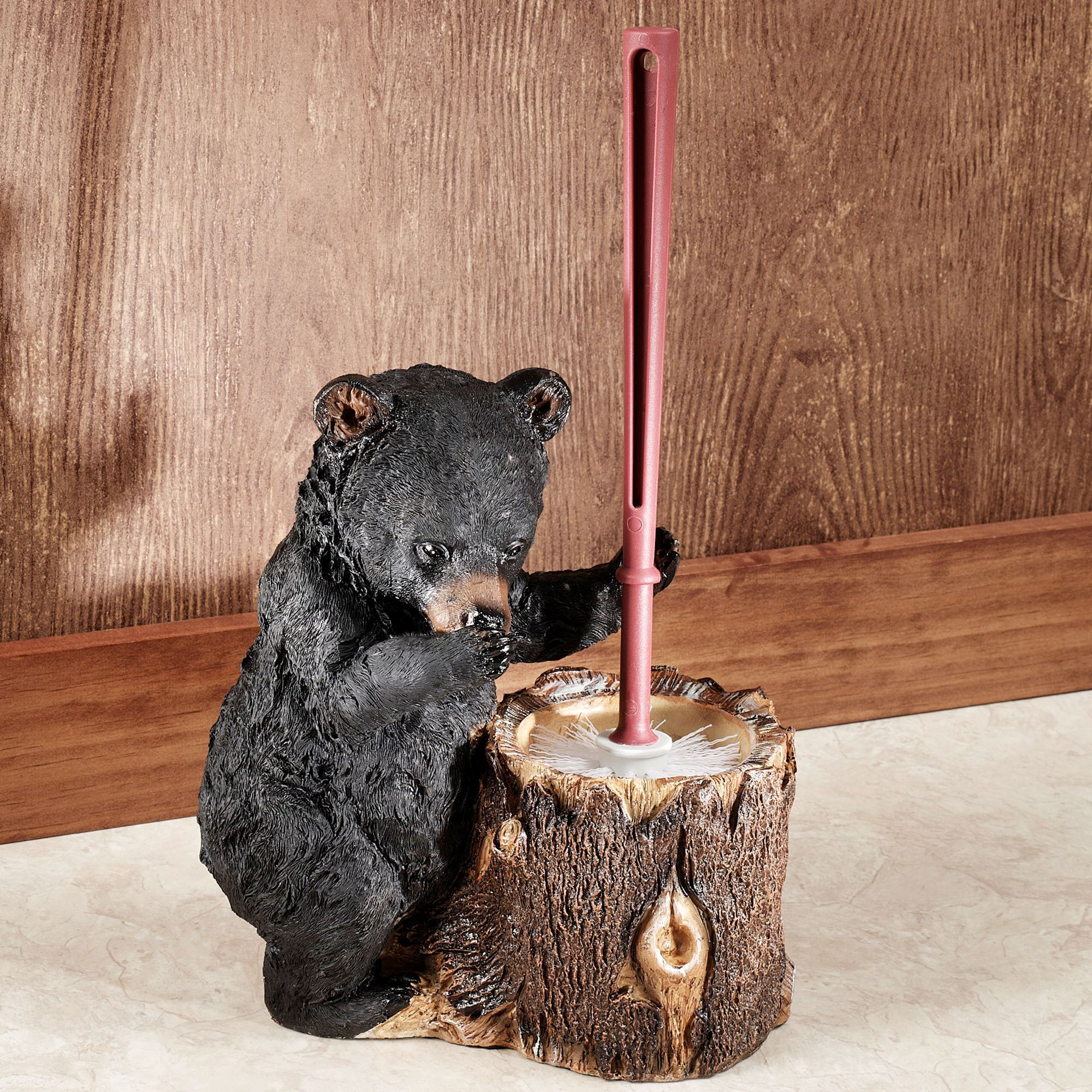 Animal Toilet Paper Holder Stand Stinkin Bear Toilet Brush Holder