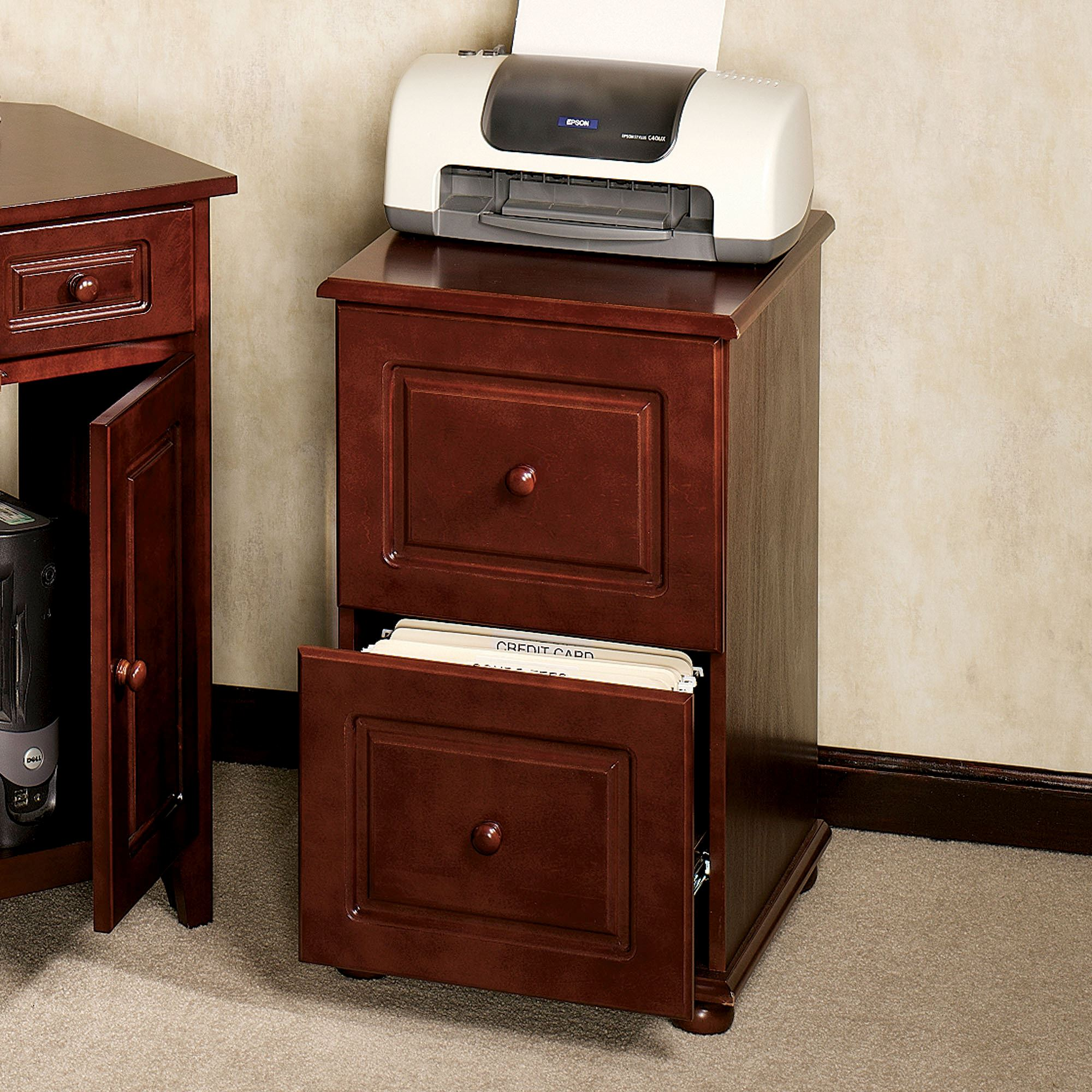 Classic Table Office Aubrie Classic Cherry Filing Cabinet