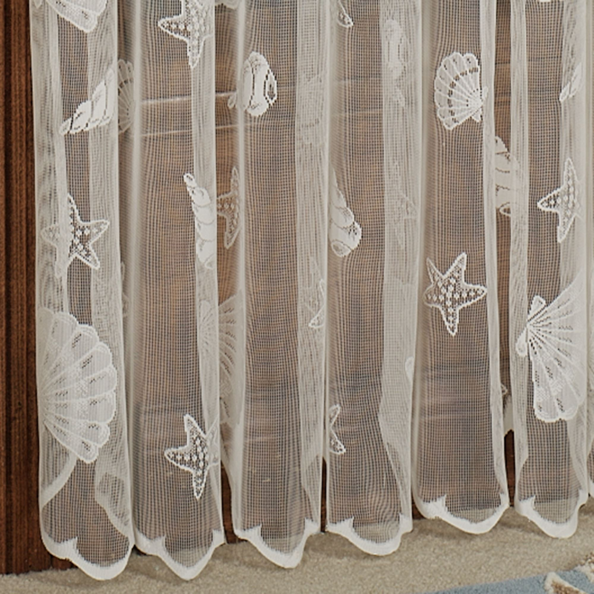 French Lace Curtains Seashells Lace Window Treatment