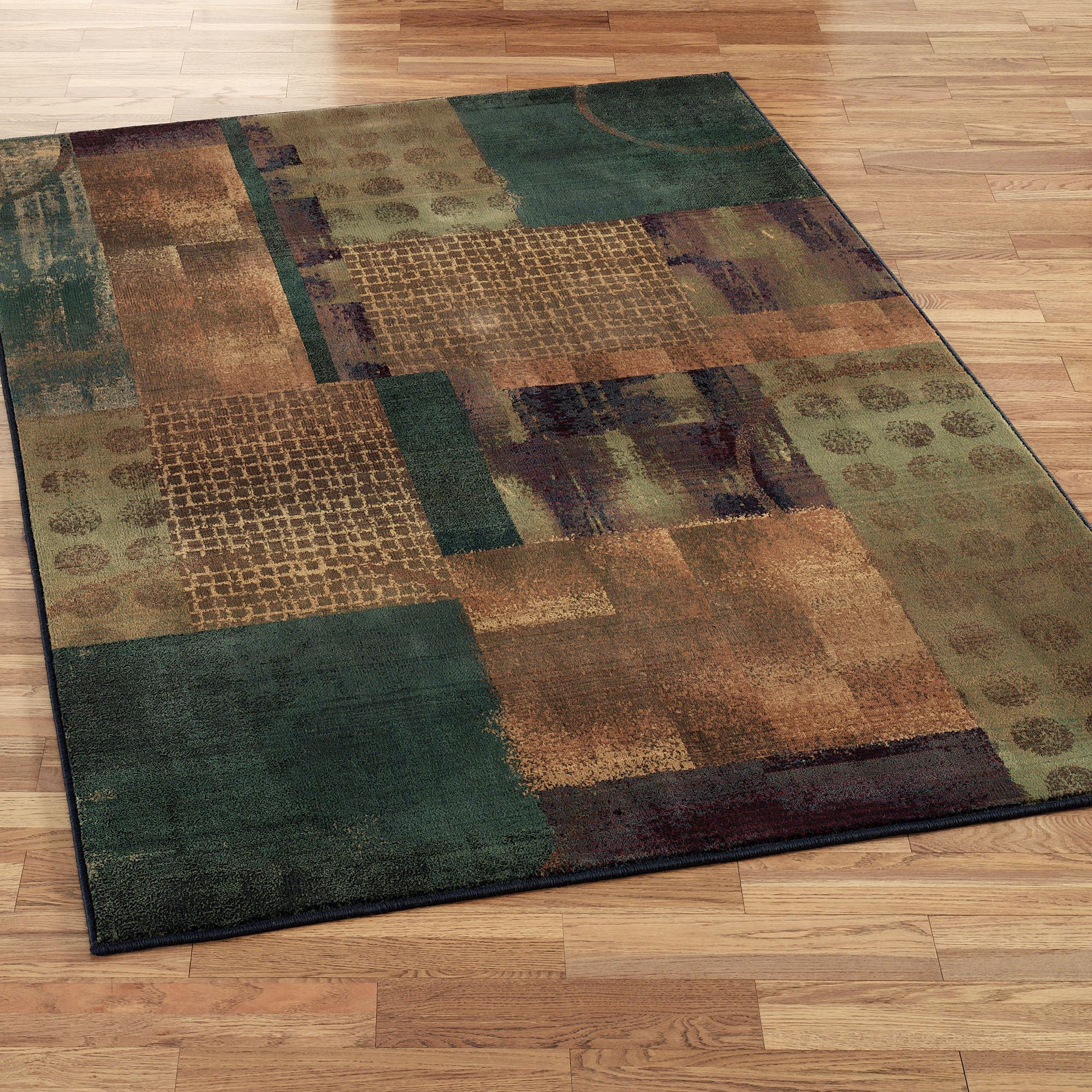 Teal Color Area Rugs Contempo Block Area Rugs