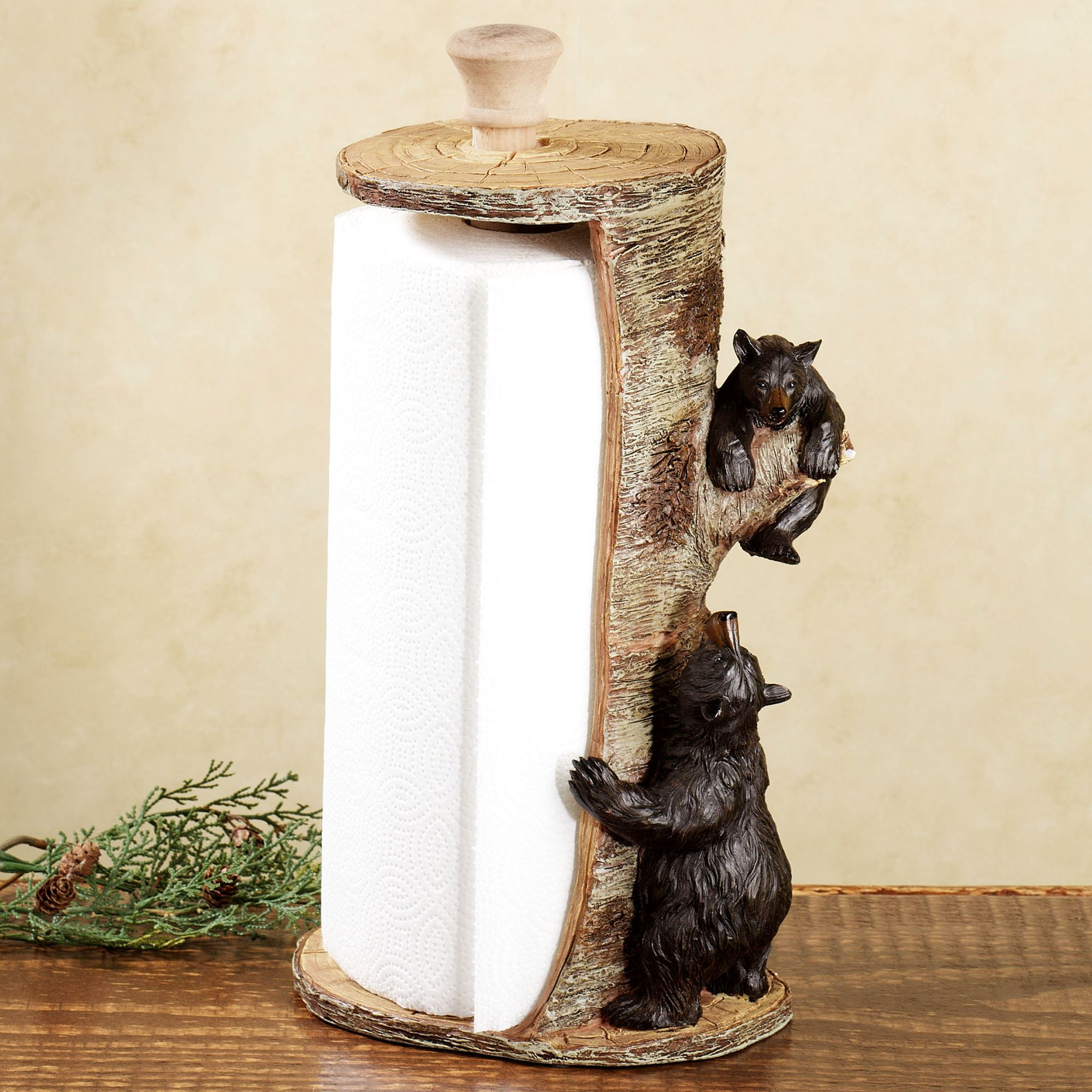 Animal Toilet Paper Holder Stand Woodland Bears Paper Towel Holder
