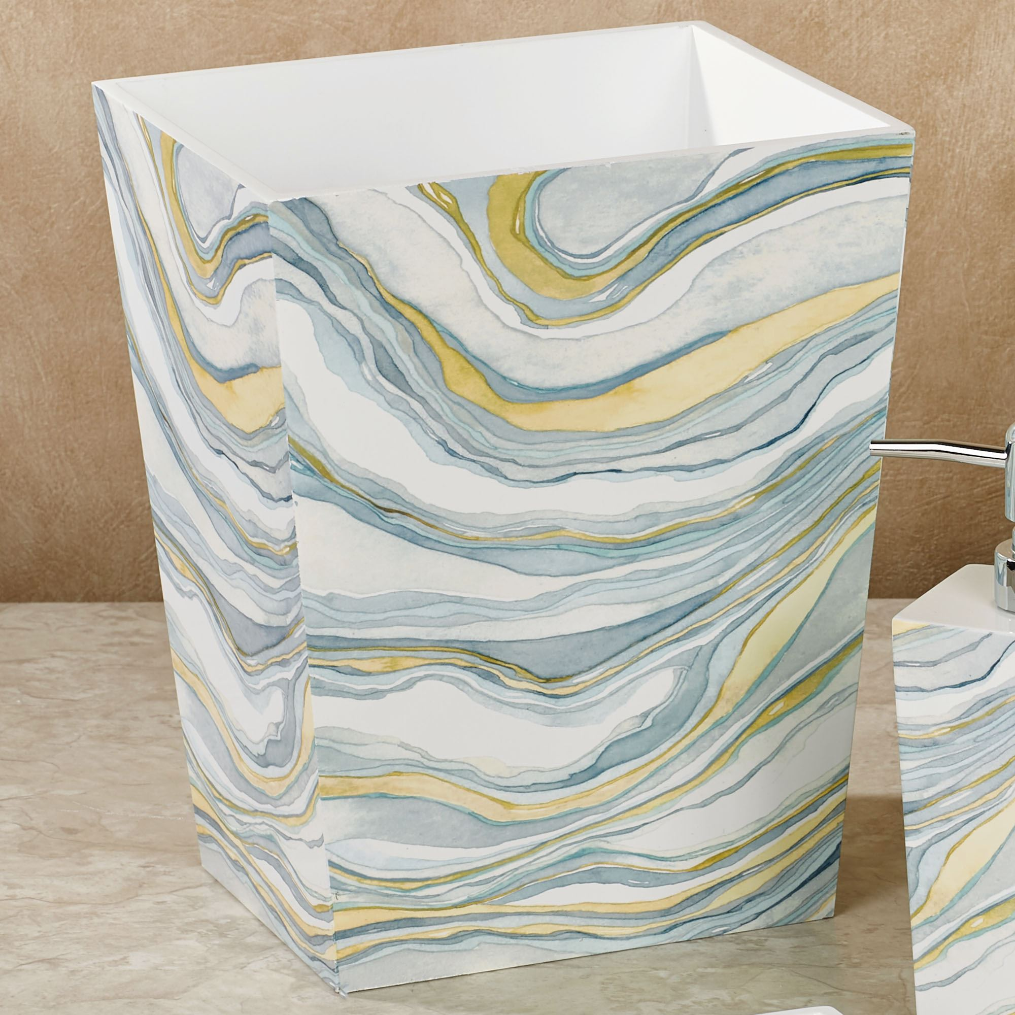 Cool Wastebaskets Sandstone Abstract Bath Accessories By Shell Rummel