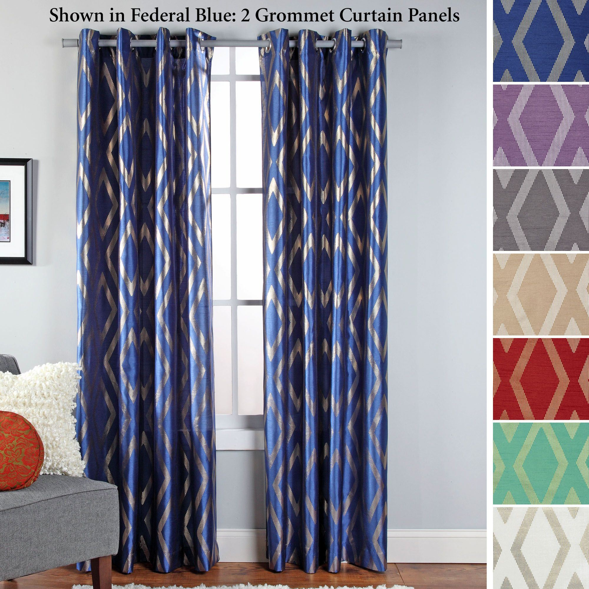 Faux Silk Curtains Stanton Faux Silk Grommet Curtain Panel