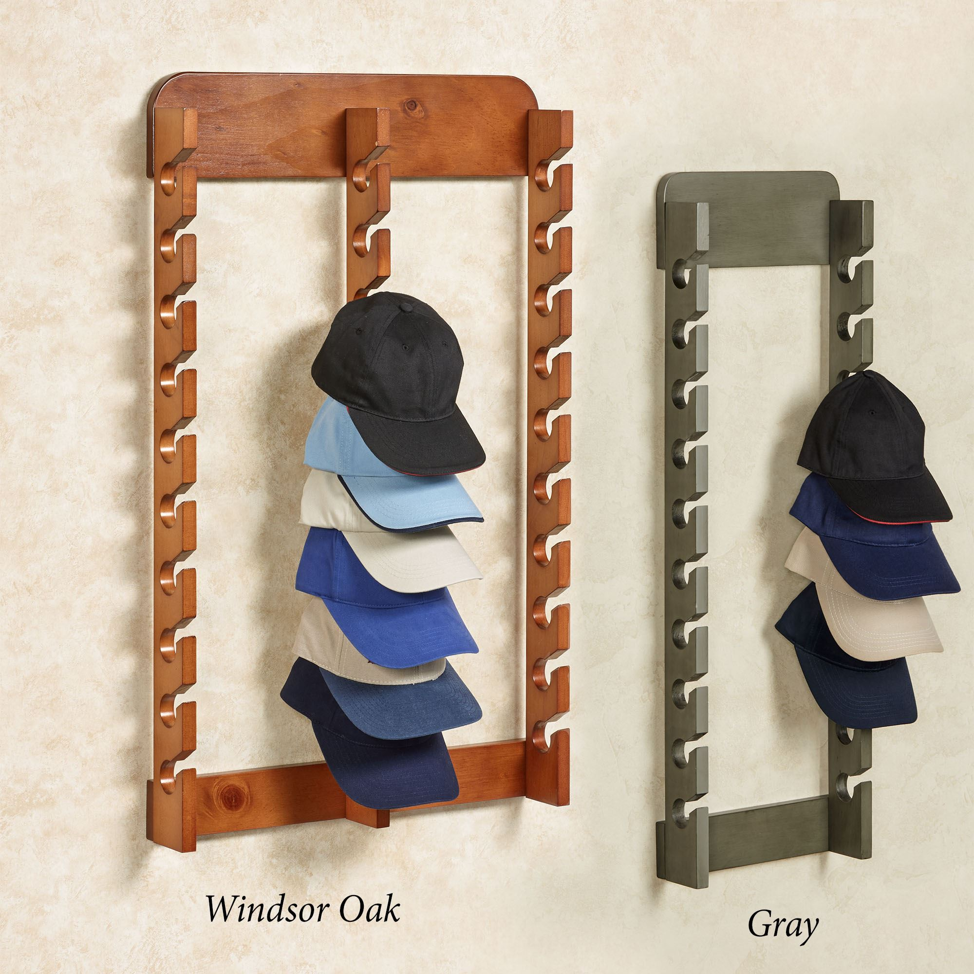 Hat Holders For Walls Wood Cap Display Wall Rack Holds Up To 30 Hats