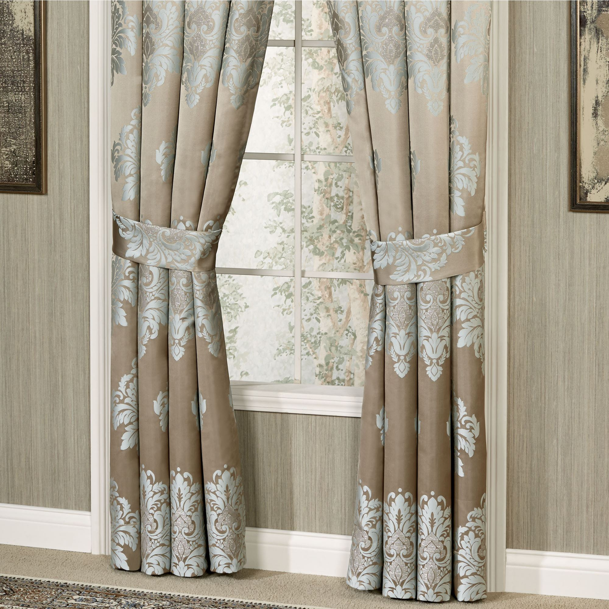 Traditional Curtains Athena Waterfall Valance Window Treatment By J Queen New York