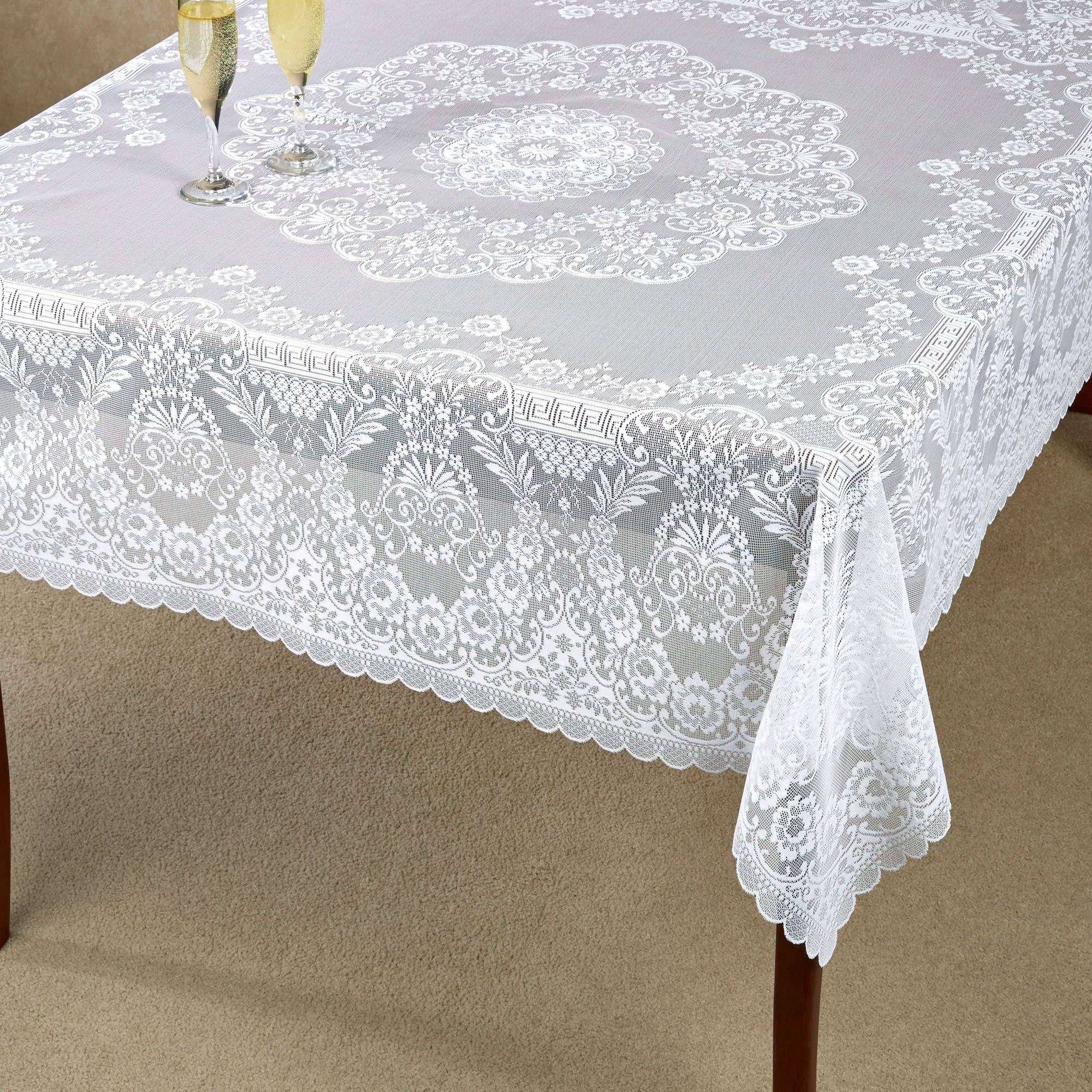 Square Tablecloth Hadleigh White Lace Tablecloth