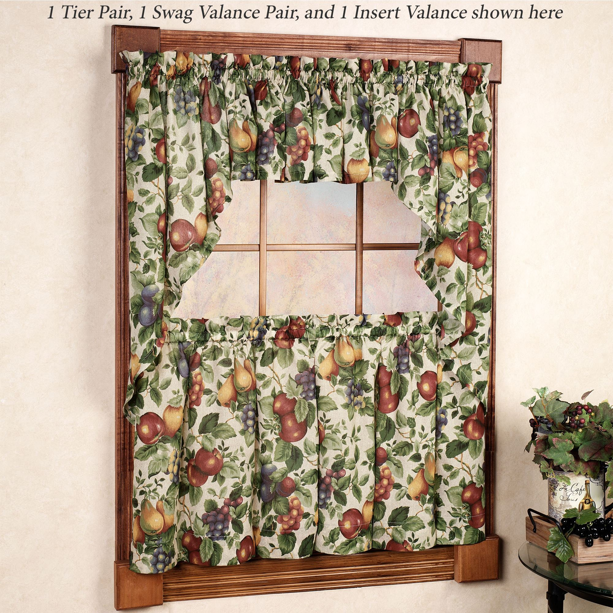 Patterns For Kitchen Curtains And Valances Sonoma Fruit Tier Window Treatments