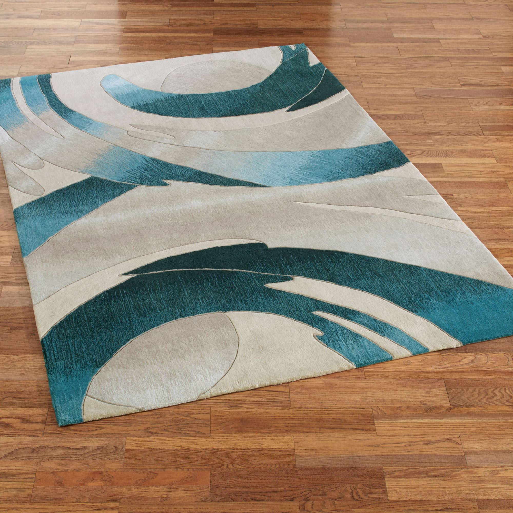 Teal Color Area Rugs Perfect Storm Abstract Area Rugs By Jasonw Studios