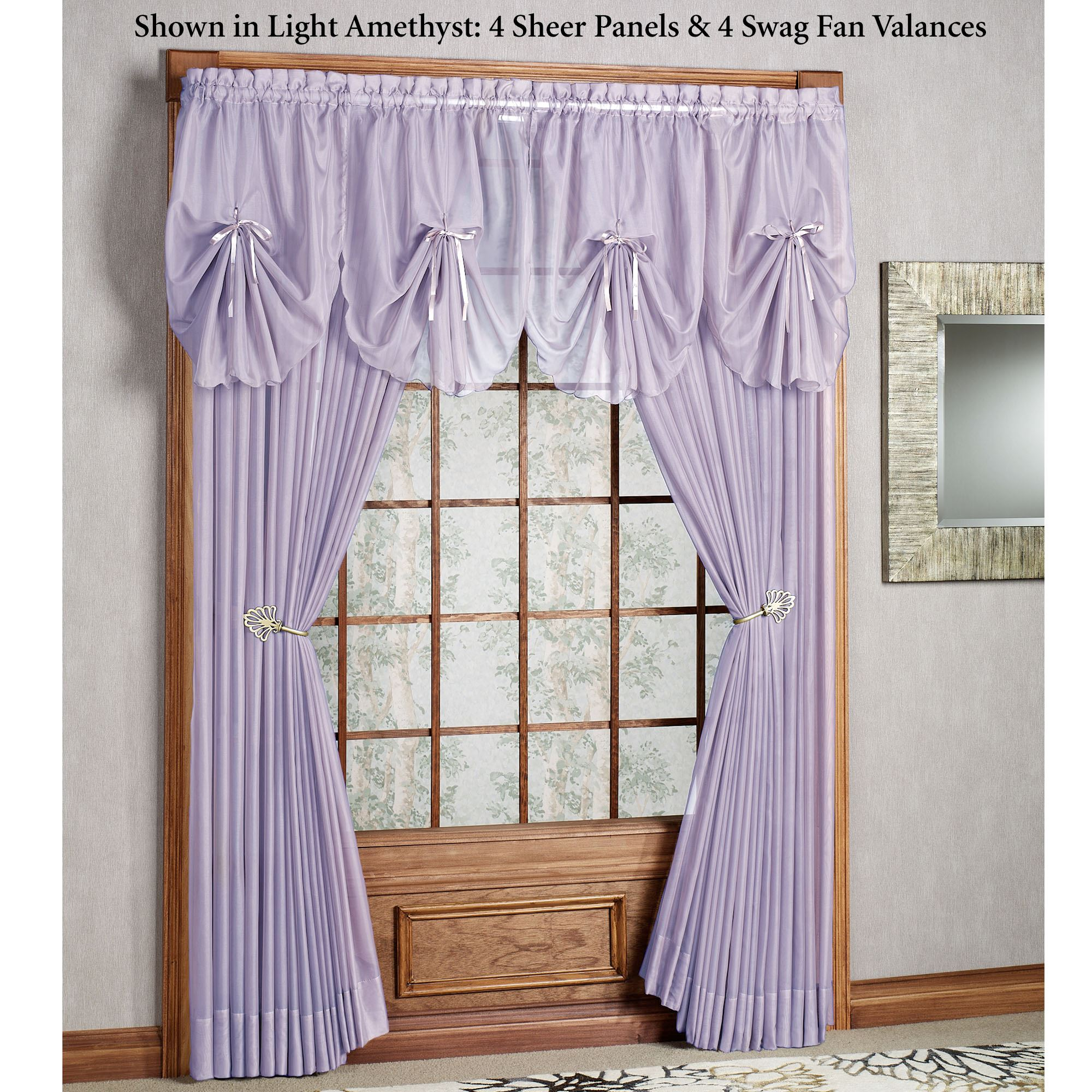 Lavender Sheer Curtains Emelia Sheer Window Treatments