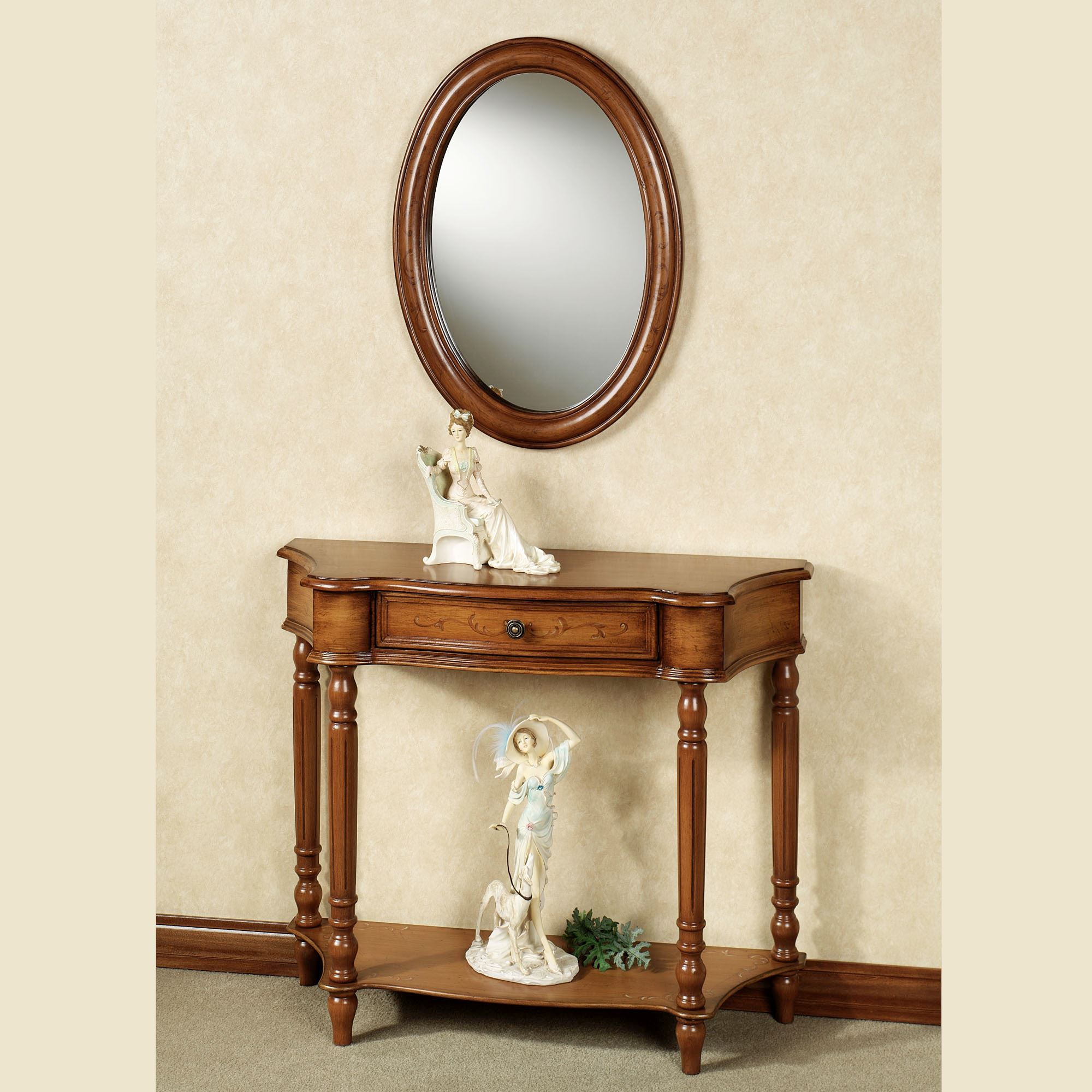 Decorative Mirror Table Amber Manor Console Table And Mirror Set