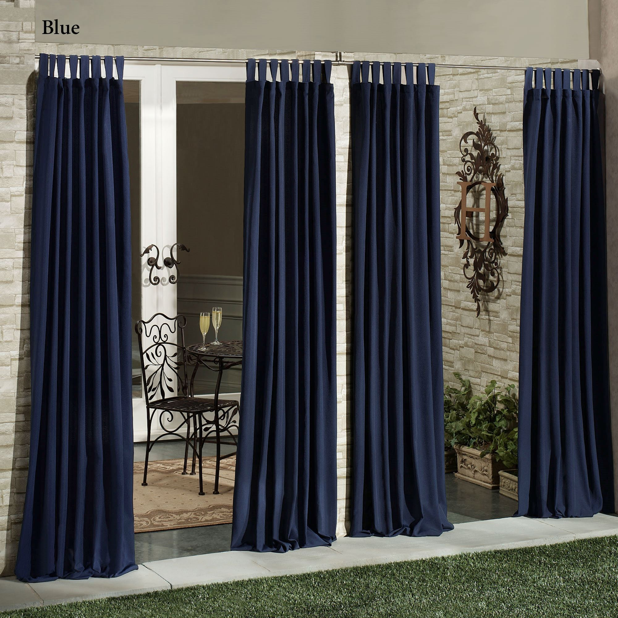 Tab Top Curtain Matine Indoor Outdoor Tab Top Curtain Panels