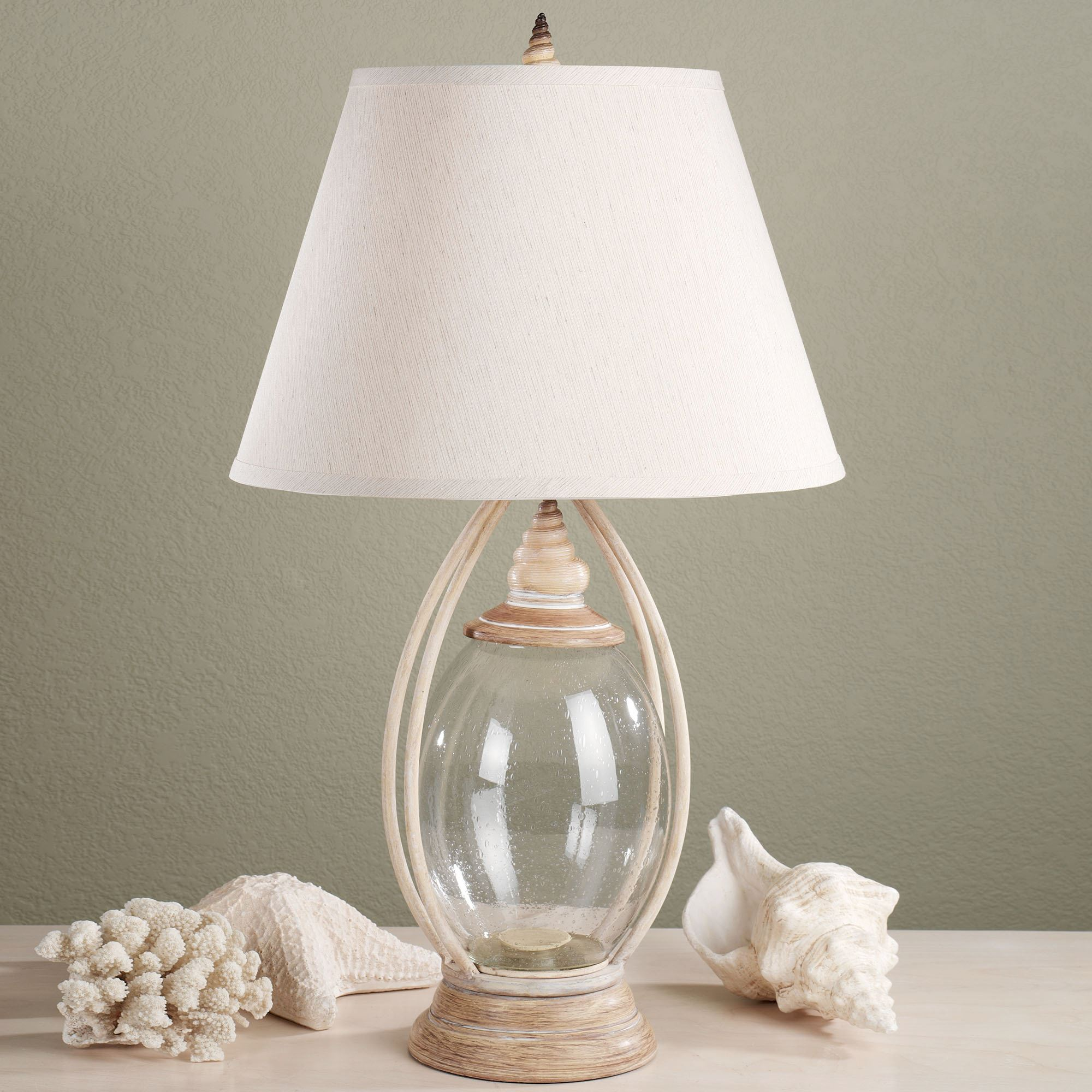 Coastal Lamps Sea Treasures Fillable Glass Table Lamp