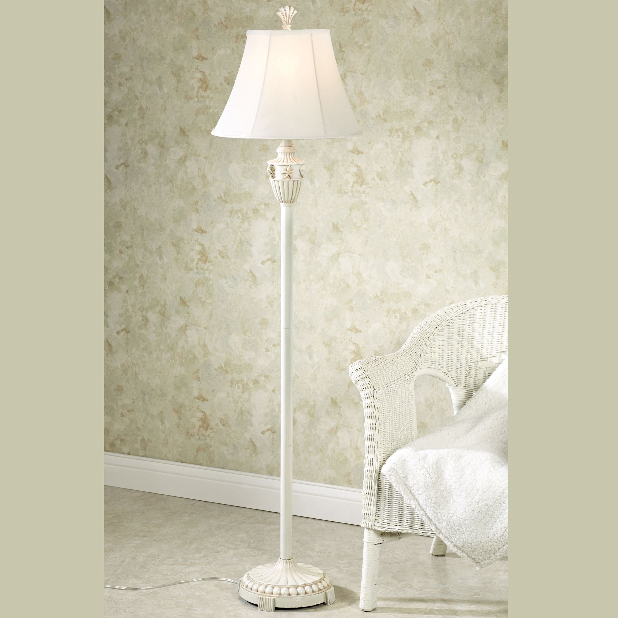 Coastal Lamps Sand And Shell Coastal Floor Lamp