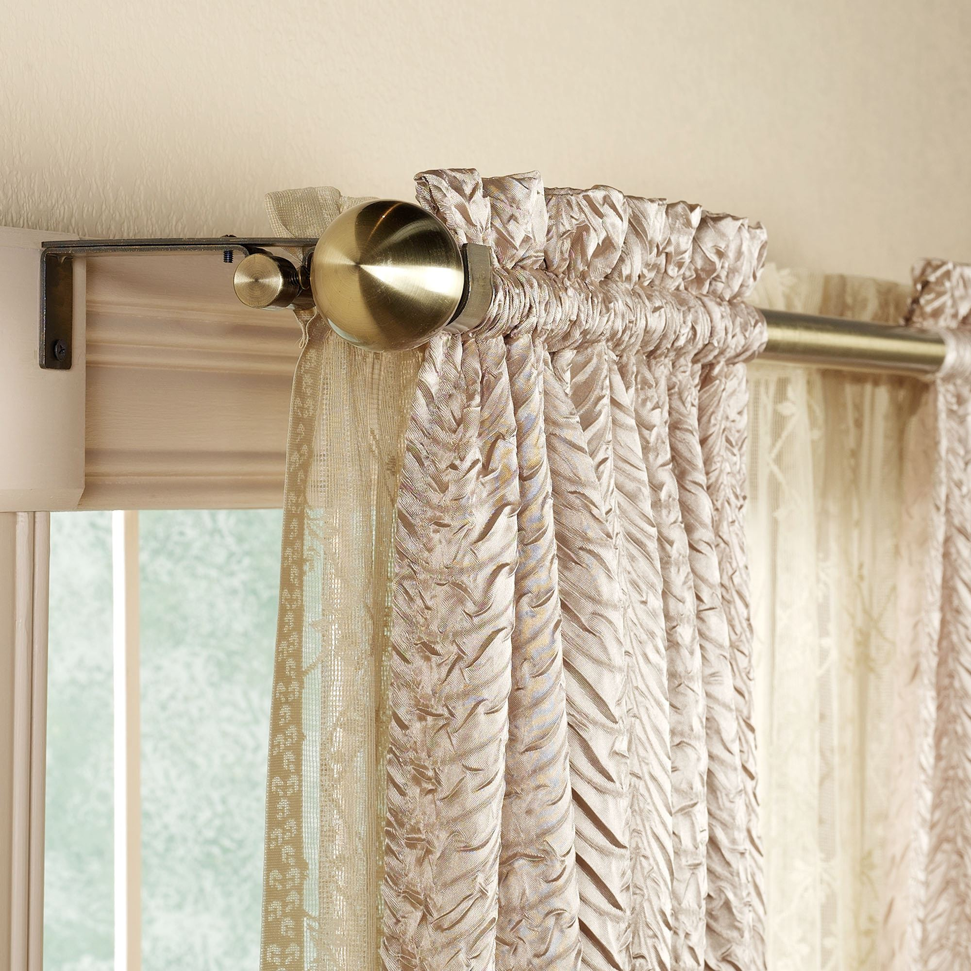 Curtain For Double Window Decorative Double Curtain Rod