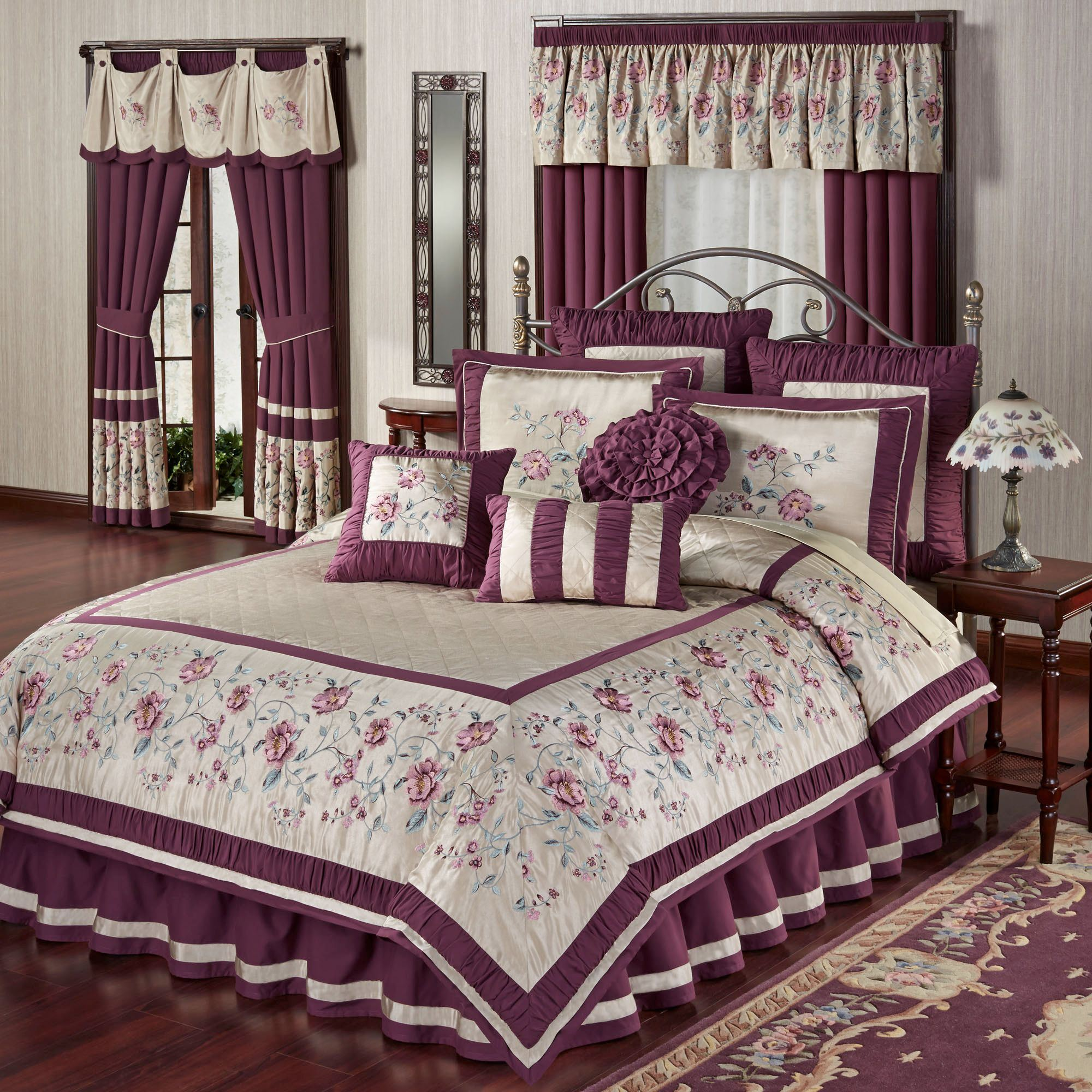 Duvet And Comforter Sets Mystic Garden Floral Comforter Bedding