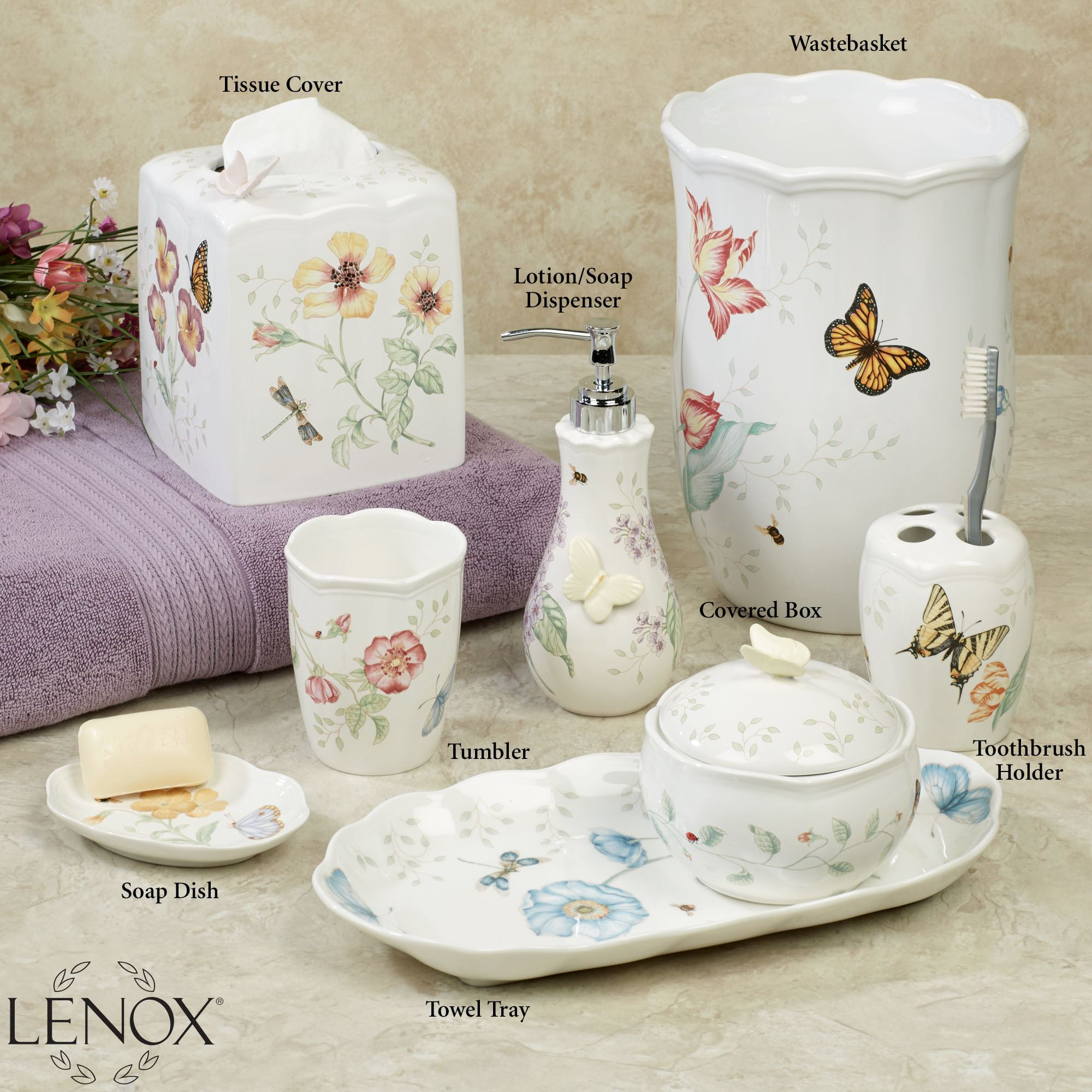 Dragon Bathroom Accessories Lenox Butterfly Meadow Porcelain Bath Accessories