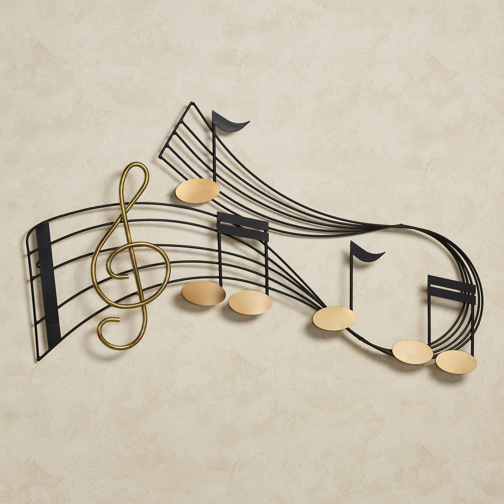 Music Notes Metal Wall Art Rhythm Music Staff Metal Wall Sculpture