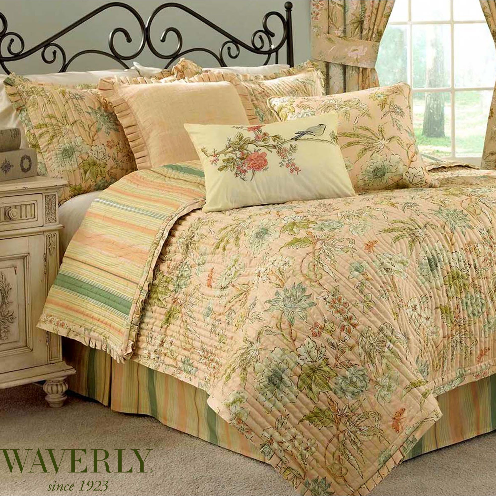 Quilt Sets Cape Coral Floral Quilt Set By Waverly