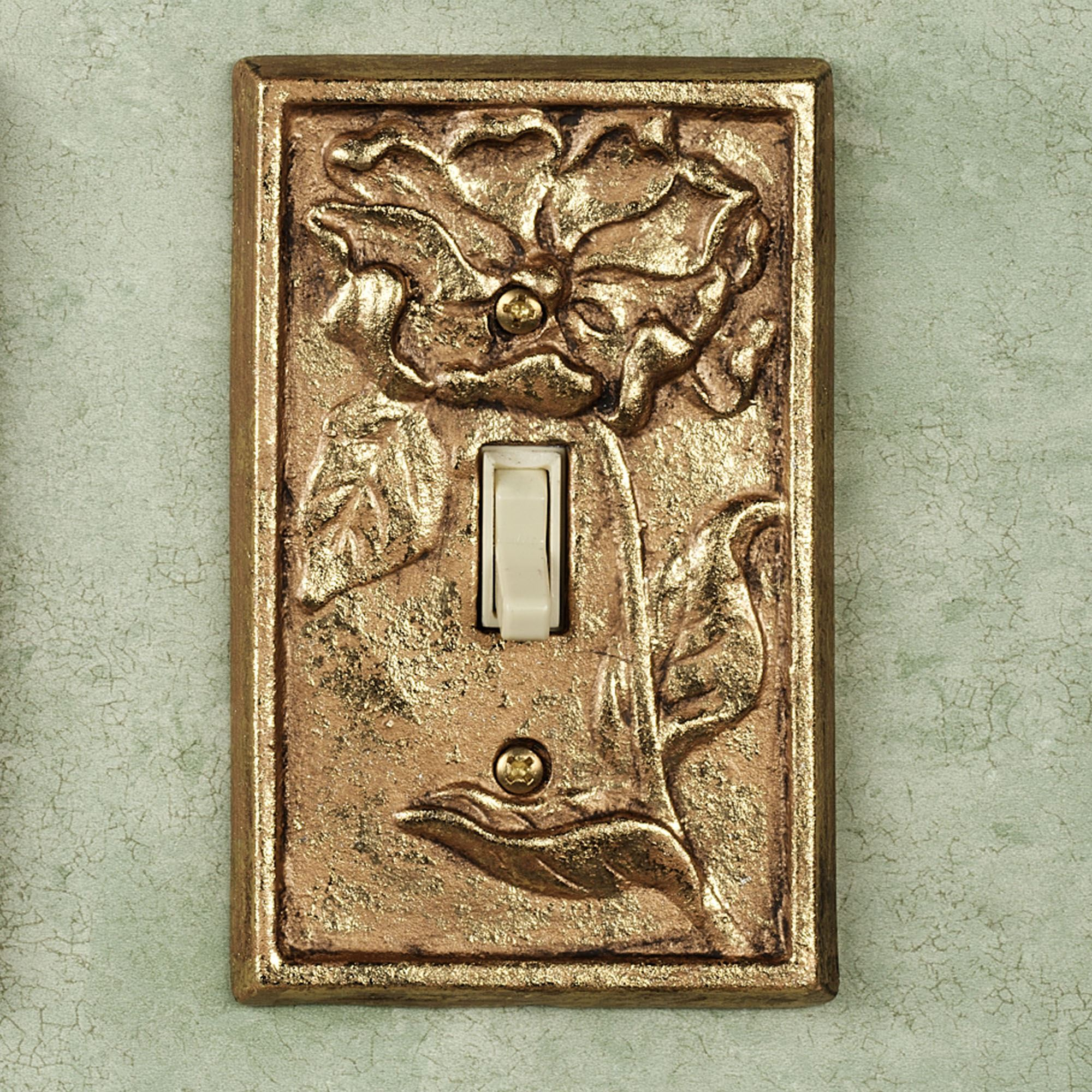 Vintage Light Switch Plate Covers Michelia Brass Switchplates
