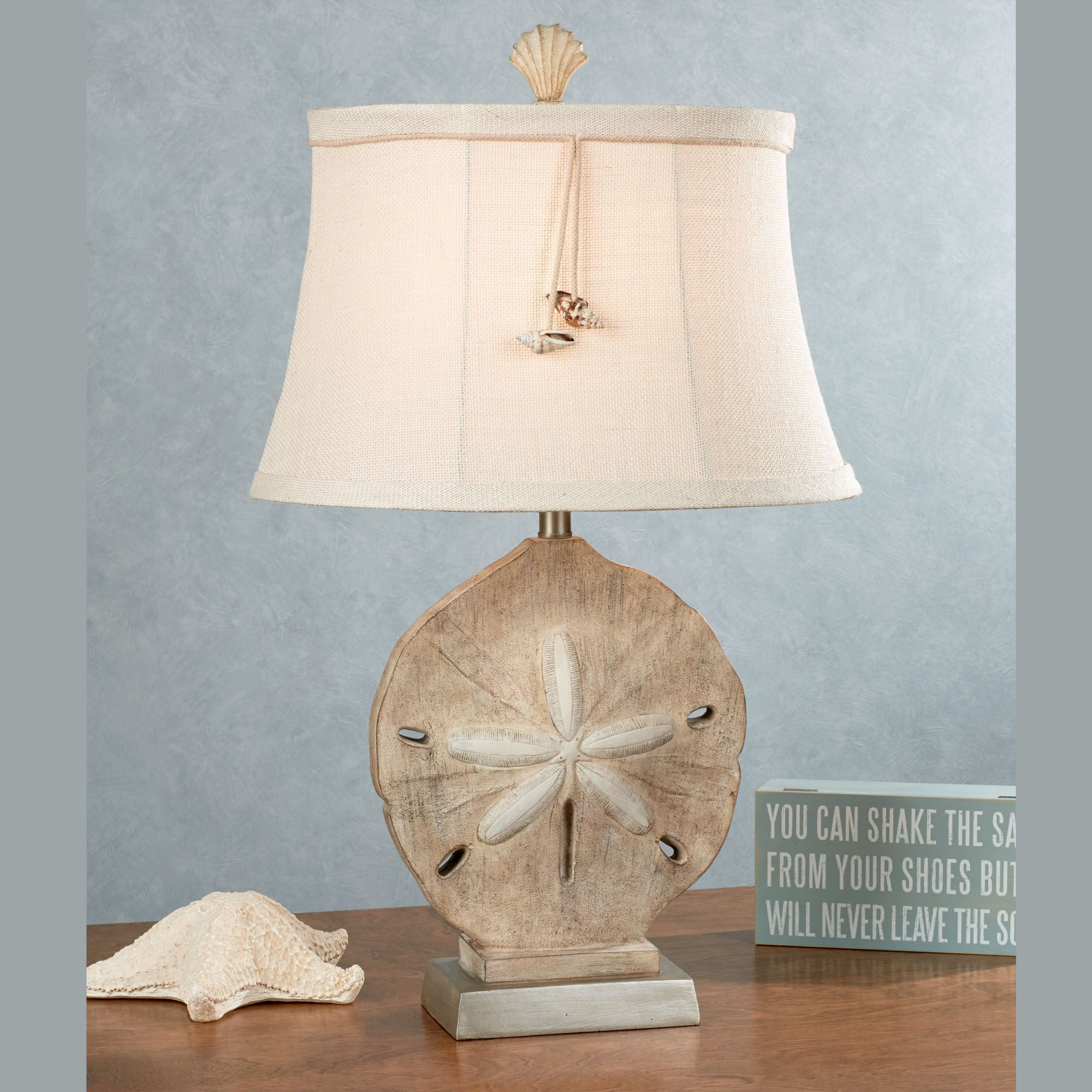 Coastal Lamps Kalea Sand Dollar Coastal Table Lamp