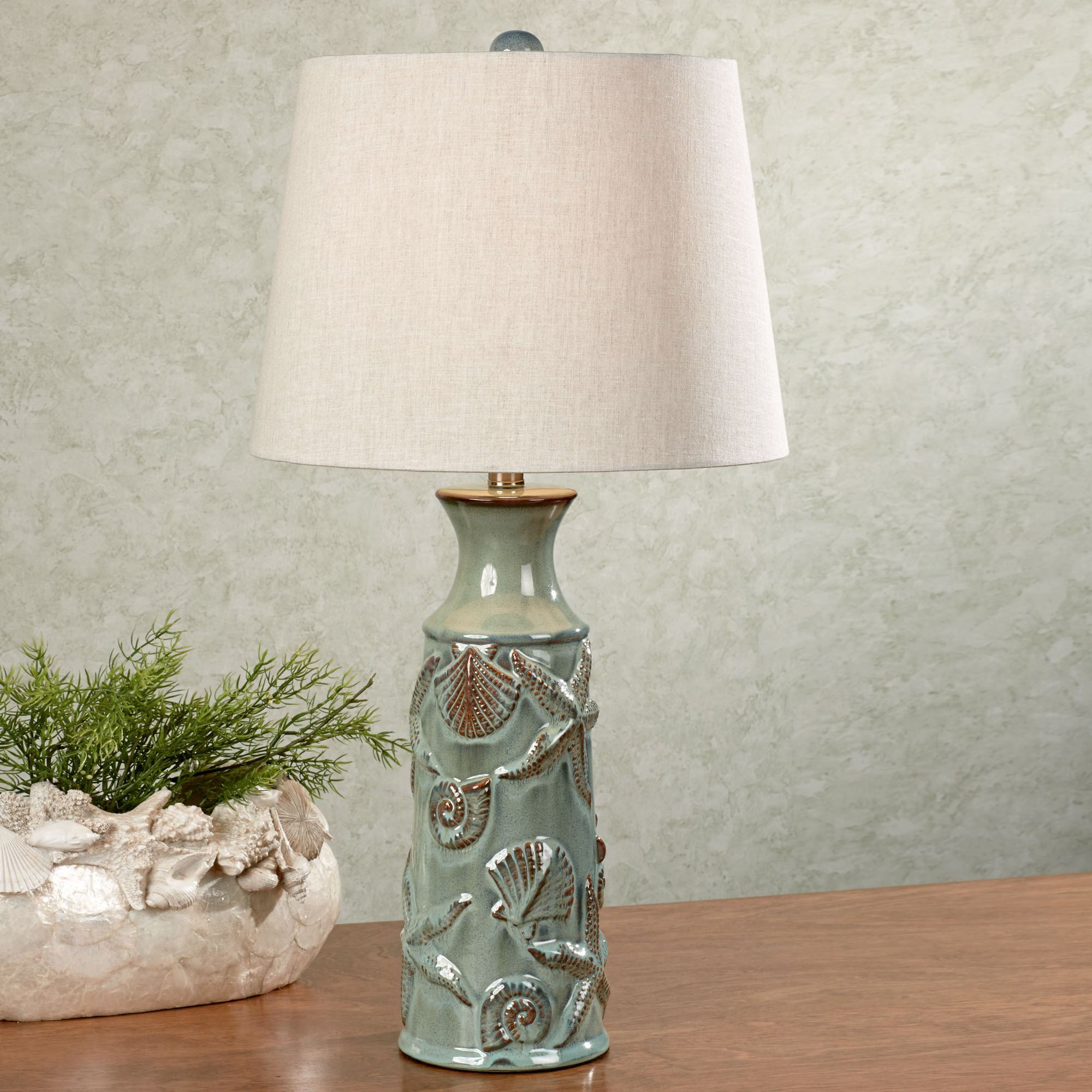 Coastal Lamps Asteroidea Ceramic Coastal Table Lamp