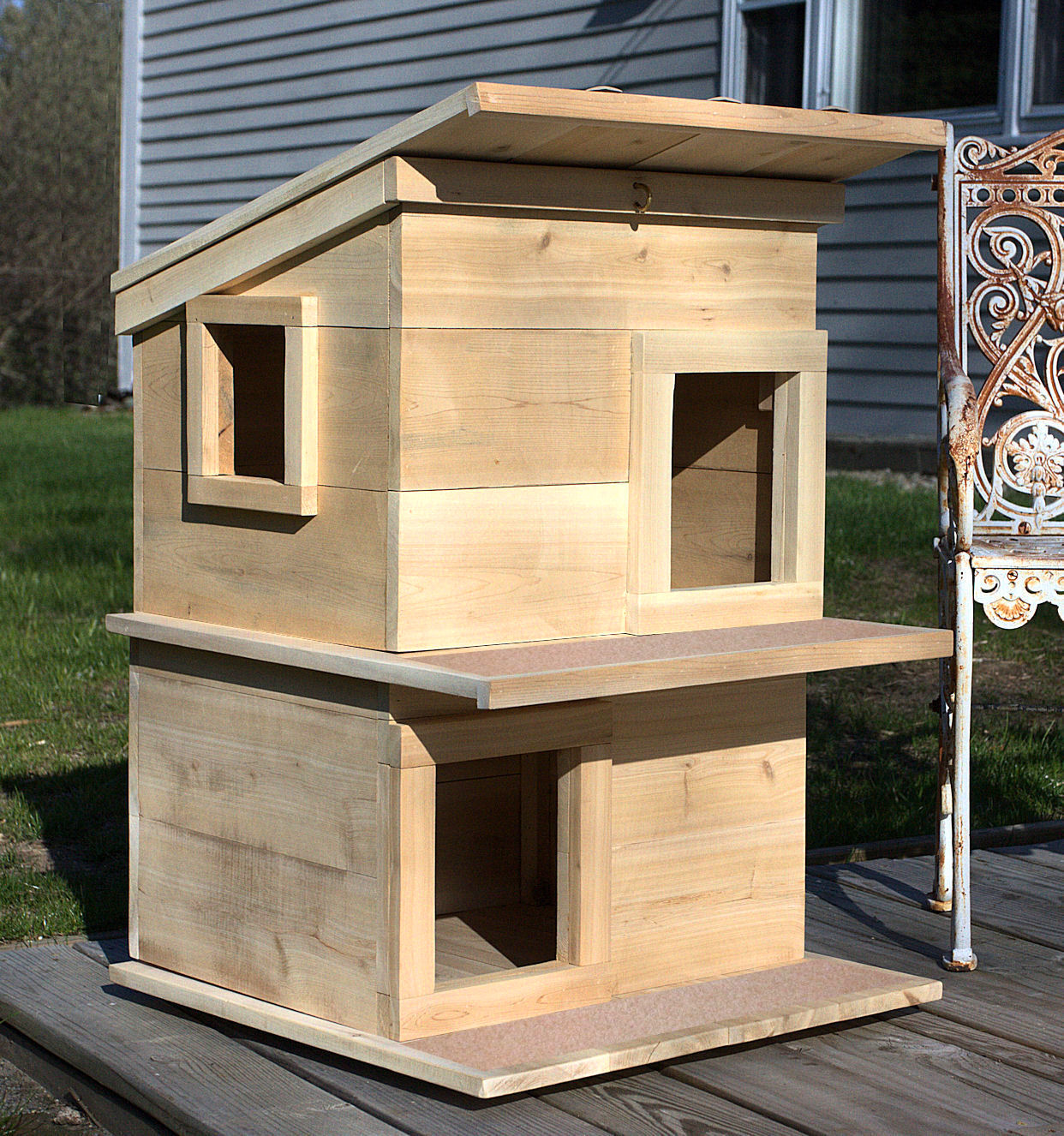 Kattenhuis Hout Outdoor Cat House Shelter From Touchstone Pet