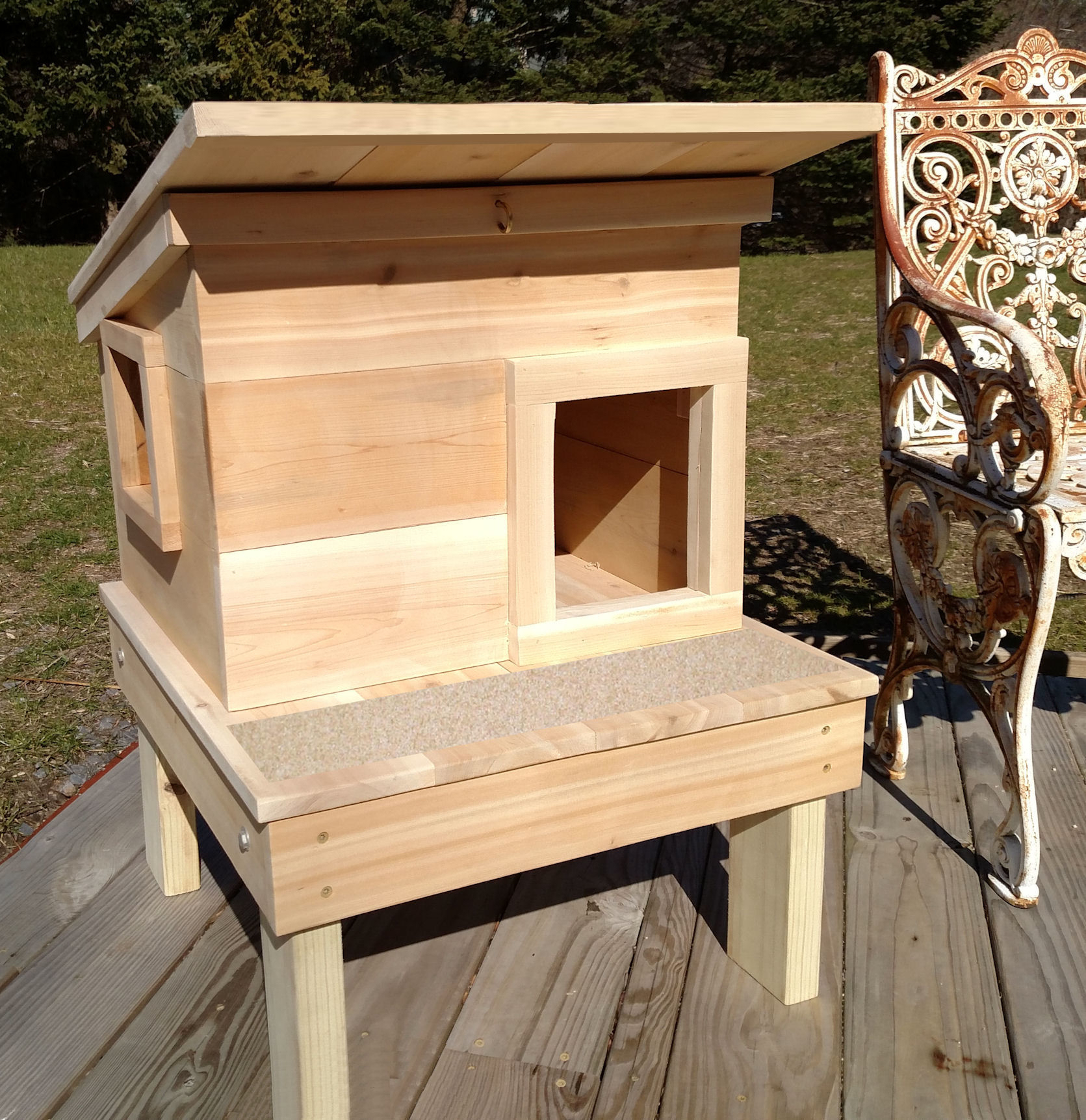 Cat House Plans Outdoor Cat House Shelter From Touchstone Pet