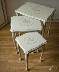 Vintage Shabby Chic Nest of Tables no. 13 - Touch the Wood