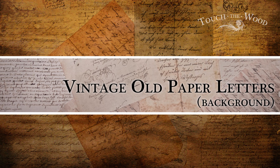 Free Printable Image Vintage Paper Letters Touch the Wood