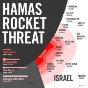 israel rocket map