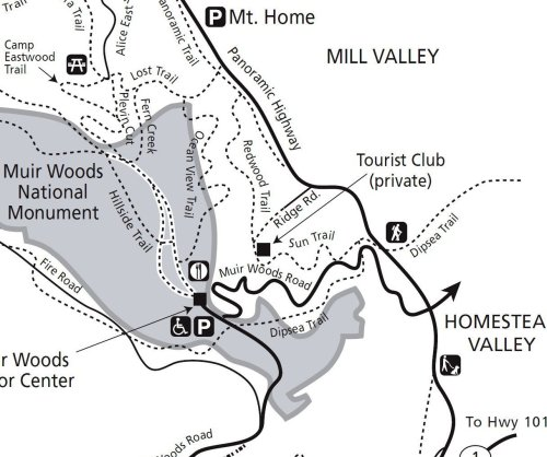 Muir Woods National Monument Trail Map