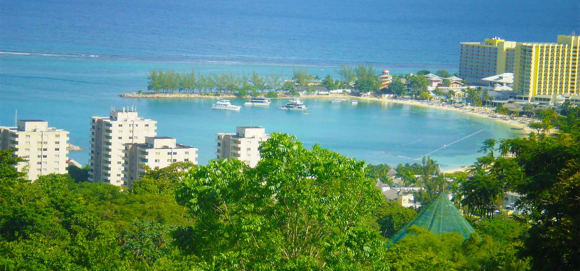 Overlooking downtown Ocho Rios