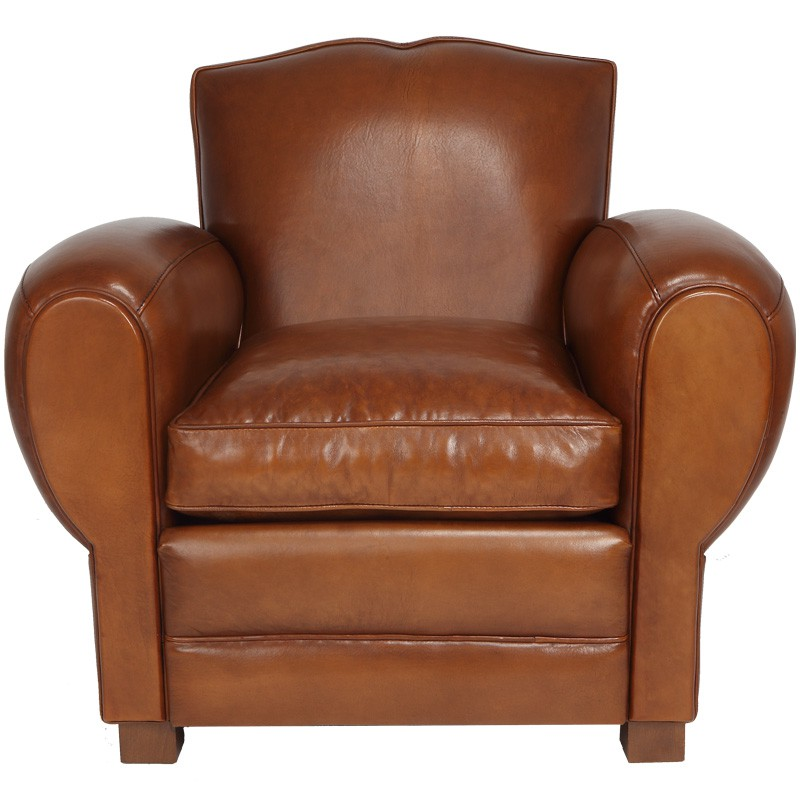 Salon Chesterfield Cuir Fauteuil Club Cuir Marron Clair Cambridge - Univers Du Salon