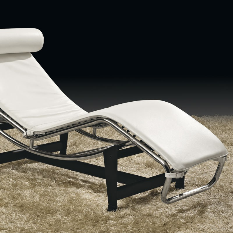 Chaise Longue Salon Design Chaise Longue Cuir Blanc Design Moderne Inox Corbs