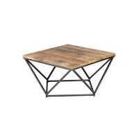 Table basse carre Mtal/Bois KNOX - Univers du Salon