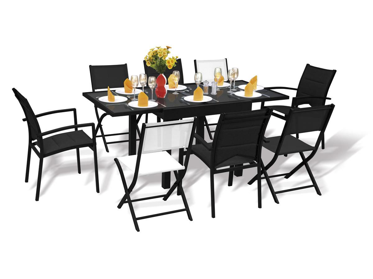Ensemble Table Et 8 Fauteuils   Piazza Salon De Jardin Table Chaise