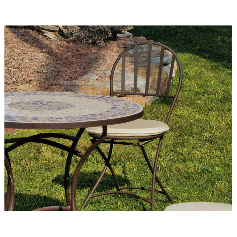 Mobilier De Jardin Nice Salon De Jardin Provence-nice 4 Places | Table Mosaique