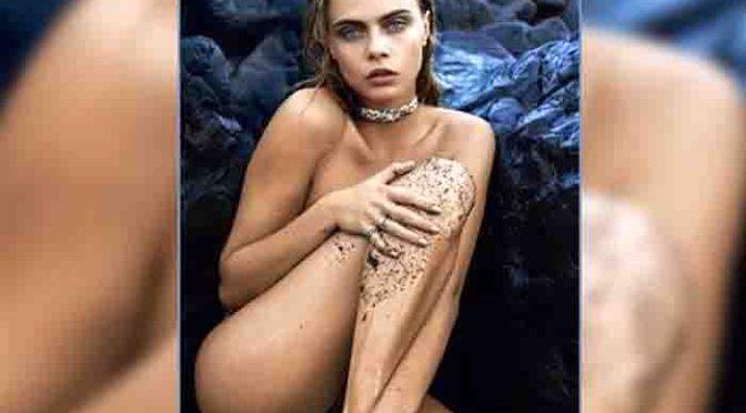 Sexy: Cara Delevingne trägt nur Juwelen, sonst nichts