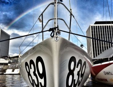 Rainbow at the dock