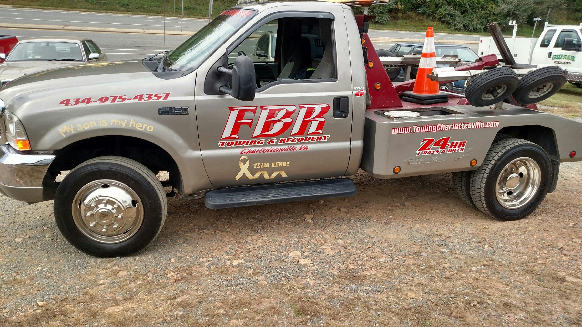 Tow Truck Fbr Towing Recovery Towing Charlottesville Tow Trucks