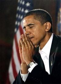 Obamapraying