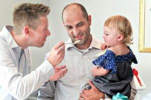 Reid Bordson (l) and Paul Noelle (r) and Daughter Anna