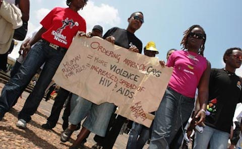 Kenya gay protest