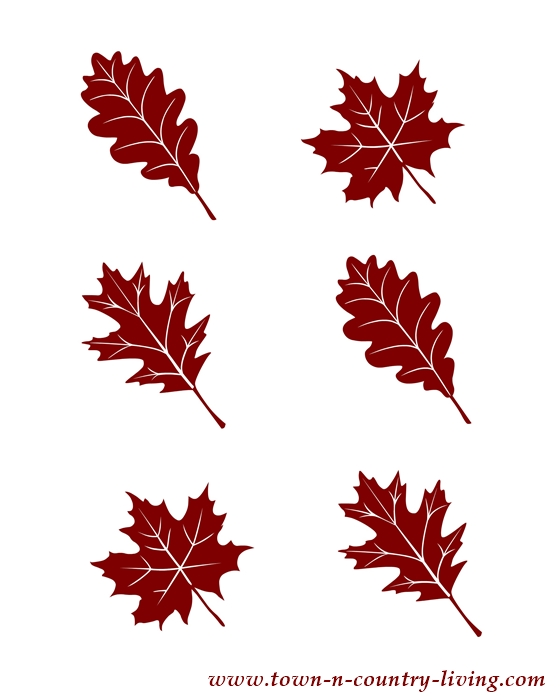 Tiny Trio of Leaves Fall Printable - Town  Country Living