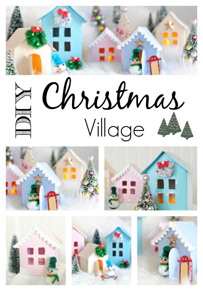 Christmas Village Free Printable to Make Your Own - Town  Country