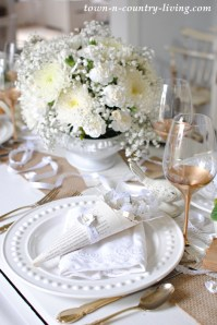 Winter White Table Setting - Town & Country Living