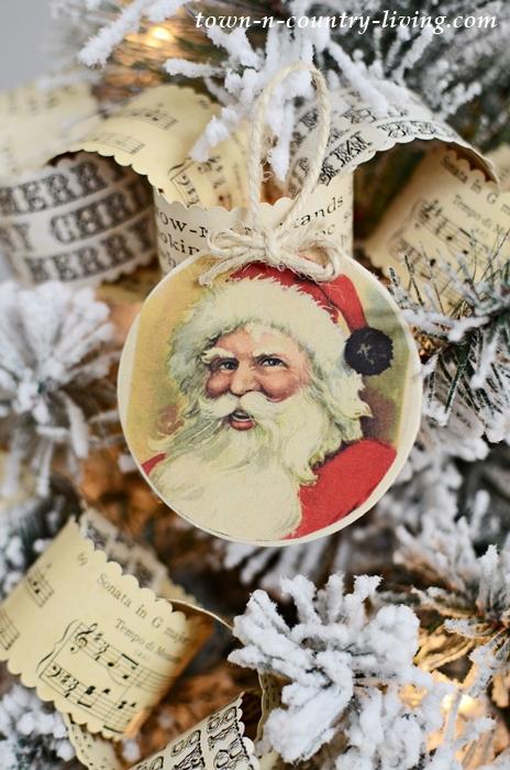 8 Vintage Santa Ornaments Free Printable - Town  Country Living